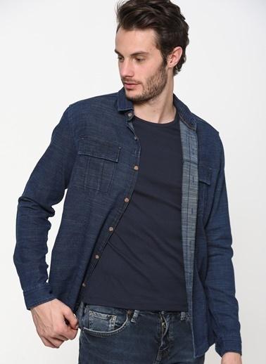 Mavi Uzun Kollu Gömlek İndigo